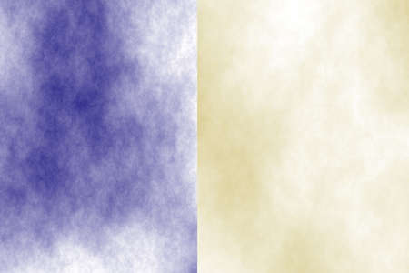 the divided: Illustration of a dark blue and cream divided white smoky background