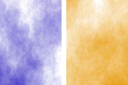 fume: Illustration of a dark blue and orange divided white smoky background