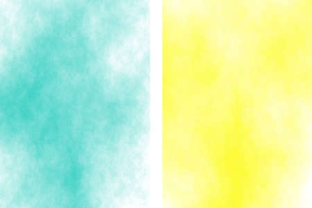 fume: Illustration of a yellow and cyan divided white smoky background Stock Photo