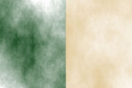the divided: Illustration of a dark green and vanilla divided white smoky background Stock Photo