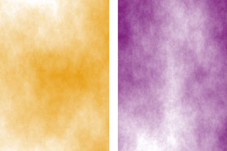 Illustration of purple and orange divided white smoky background