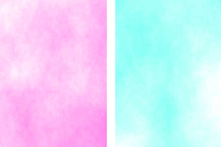 the divided: Illustration of a pink and cyan divided white smoky background