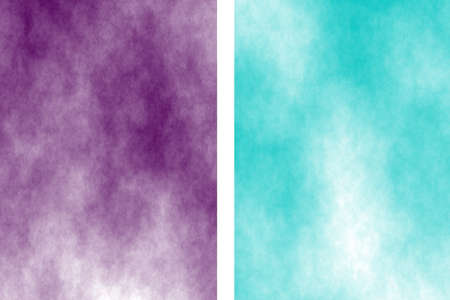 the divided: Illustration of a purple and cyan divided white smoky background