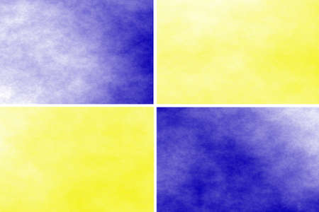 rectangles: White background with blue and yellow rectangles Stock Photo