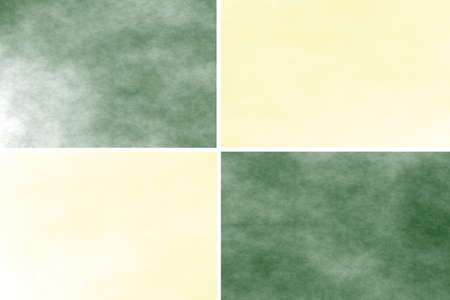 incense: White background with dark green and vanilla colored rectangles