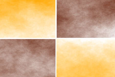 White background with orange and brown rectangles