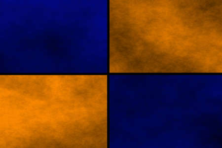 fumes: Black background with blue and orange rectangles Stock Photo