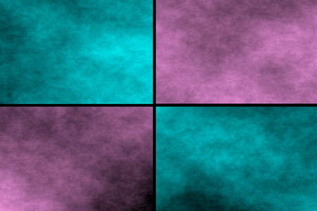 pink and black: Black background with cyan and pink rectangles