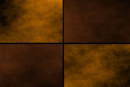 fumes: Black background with orange and brown rectangles