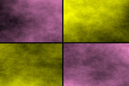 pink and black: Black background with pink and yellow rectangles