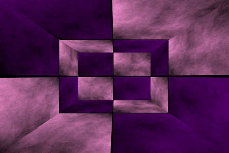 fumes: Illustration of a pink and purple 3d box