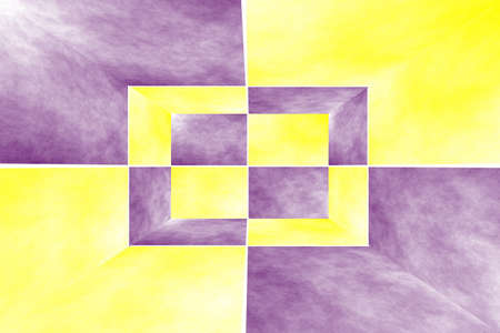 fumes: Illustration of a purple and yellow 3d box