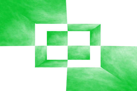fumes: Illustration of a green and white 3d box
