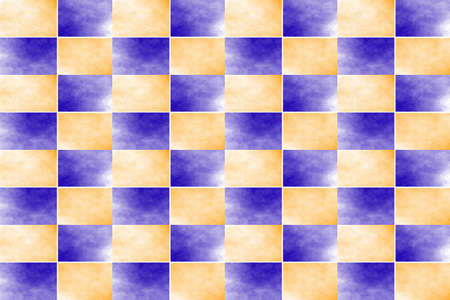 fume: Illustration of an abstract dark blue and orange chessboard