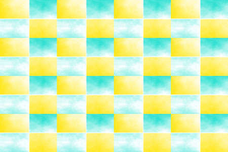 fume: Illustration of an abstract yellow and cyan chessboard