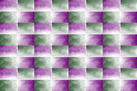 fume: Illustration of an abstract dark green and purple chessboard