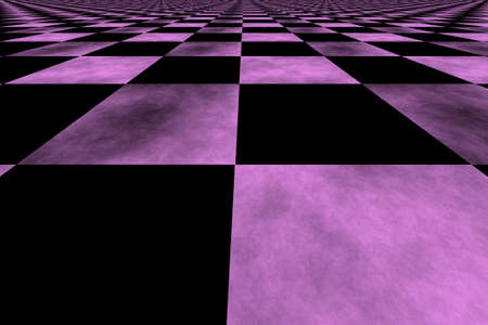 Illustration of a pink and black background perspective