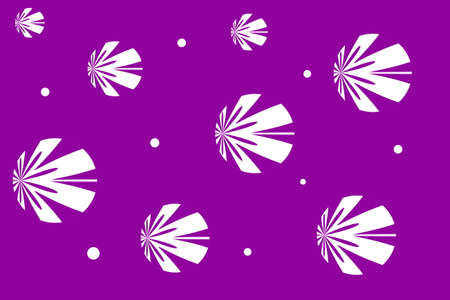 white: Purple background with white flowers Illustration