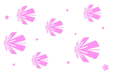 white: White background with pink flowers
