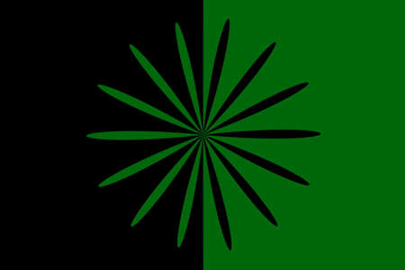 Abstract dark green and black flower