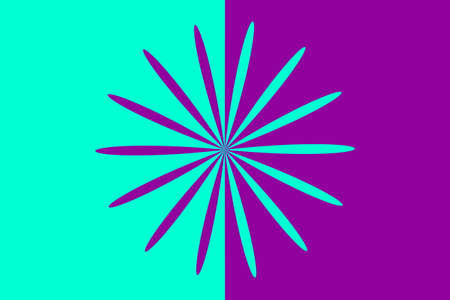Abstract purple and cyan flower