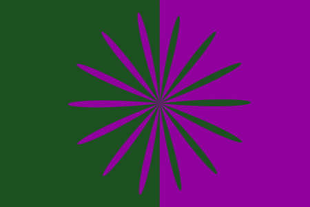 Abstract dark green and purple flower