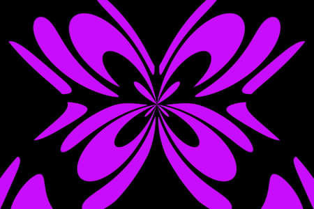 Black background with an abstract purple and black butterfly