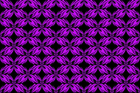 Illustration of Several abstract purple and black butterflies Illustration