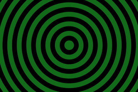 Illustration of dark green and black concentric circles