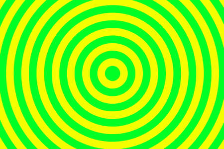 Illustration of yellow and green concentric circles