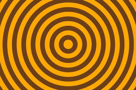 Illustration de cercles concentriques orange et brun