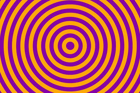 Illustration de cercles concentriques violets et orange