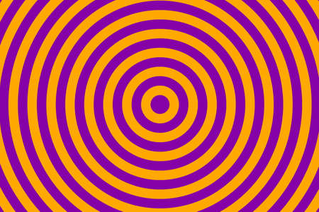 converging: Illustration of purple and orange concentric circles