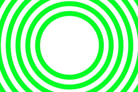 Illustration of green and white concentric circles with space in the middle