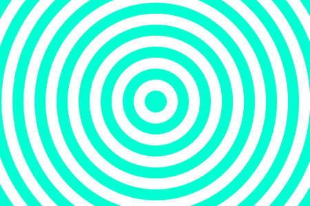 Illustration of cyan and white concentric circles Illustration