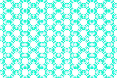Illustration of Several cyan and white concentric circles