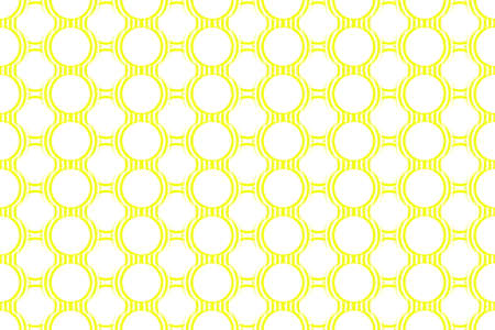 Illustration of Several yellow and white concentric circles