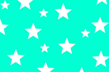 Illustration of white stars on a cyan background