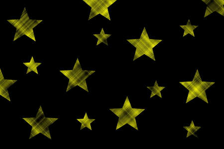 Black background with yellow and black checkered stars