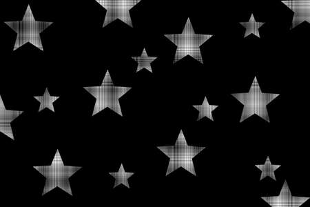 Black background with black and white checkered stars