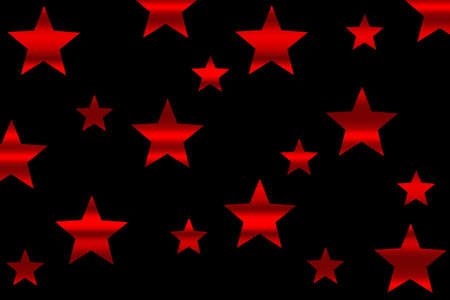 Red horizontal striped stars on a black background Stock Photo