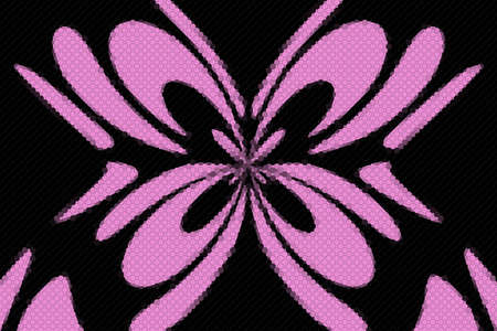 Pink and black mosaic butterfly on a black background Zdjęcie Seryjne