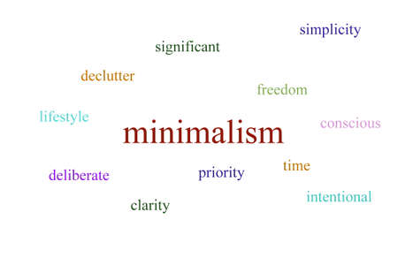 Illustration of an infographic about minimalism Stock Photo