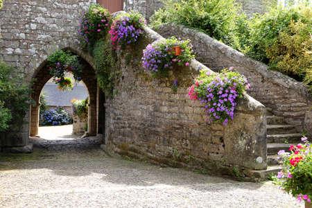 Doorway of an ancient building in rural france