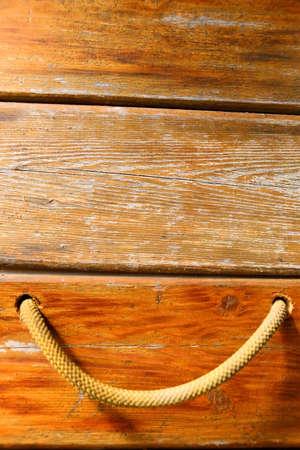 Wooden planks with a cord Zdjęcie Seryjne