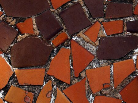 A close up of the pattern created by the tiles of a pavement                                photo