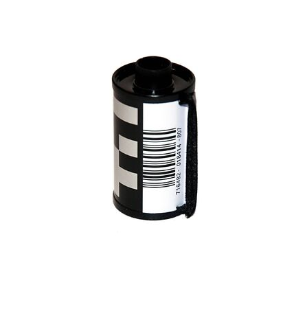 disuse: A film cartridge over a white background