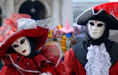 Traditional Venice Carnival mask in San Marco square, Venice Stock Photo - 940109