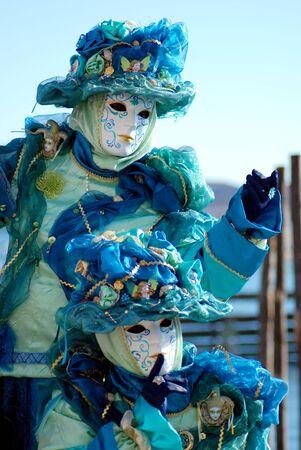 carnaval venise: Carnaval de Venise masque traditionnel � la Place Saint Marc, Venise