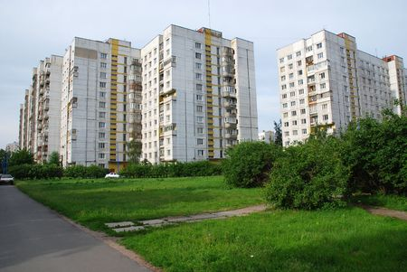 Houses in St Petersburg suburbs, Russia Stock Photo - 1829496